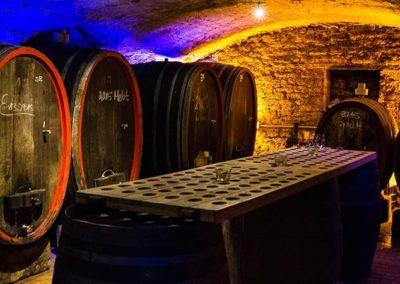 Kellerführung mit Rotweinprobe im Sternenfelserhof